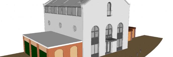 verbouwing vermalig kerkje in Voorburg